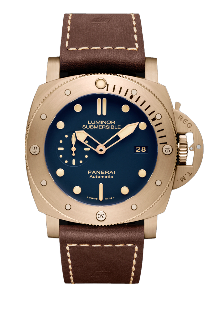Panerai Submersible 1950 3 Days Blue Bronzo Special Edition PAM00671 2017 [Preowned]