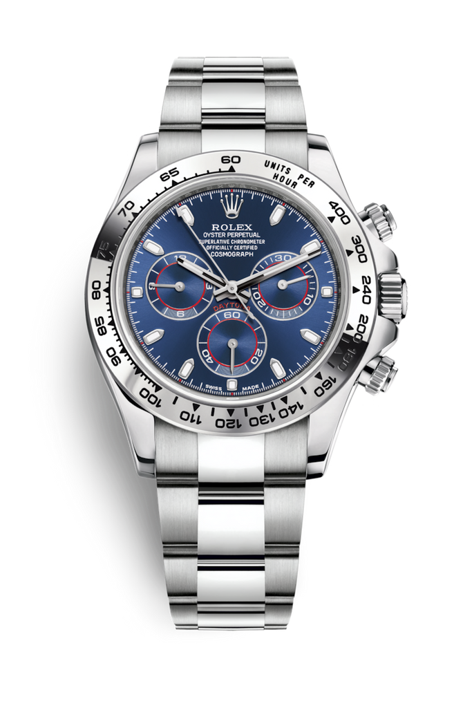 Rolex Cosmograph Daytona White Gold - Blue Dial 116509