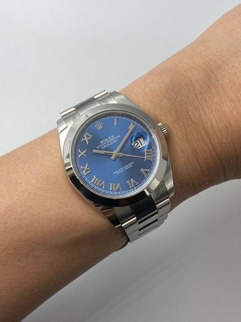 Rolex Datejust 41mm Azzurro Blue 126300