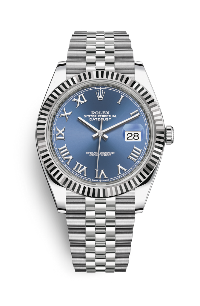 Rolex Datejust 41mm Blue Roman on Jubilee Bracelet 126334