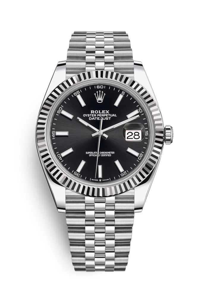 Rolex Datejust 41mm Black Dial on Jubilee Bracelet 126334