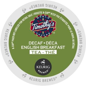 Timothy's Decaffeinated English Breakfast Tea - 96 K-CUPS