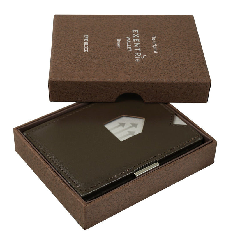 EXENTRI Wallet Brown - Exentri Wallets - Smart Wallet