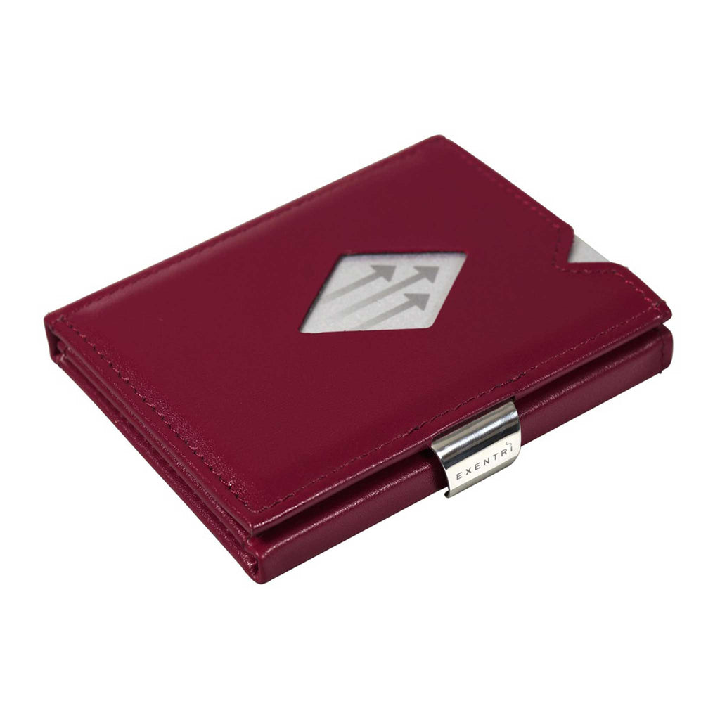 EXENTRI Wallet Red - mit RFID-Schutz - Exentri Wallets - Smart Wallet