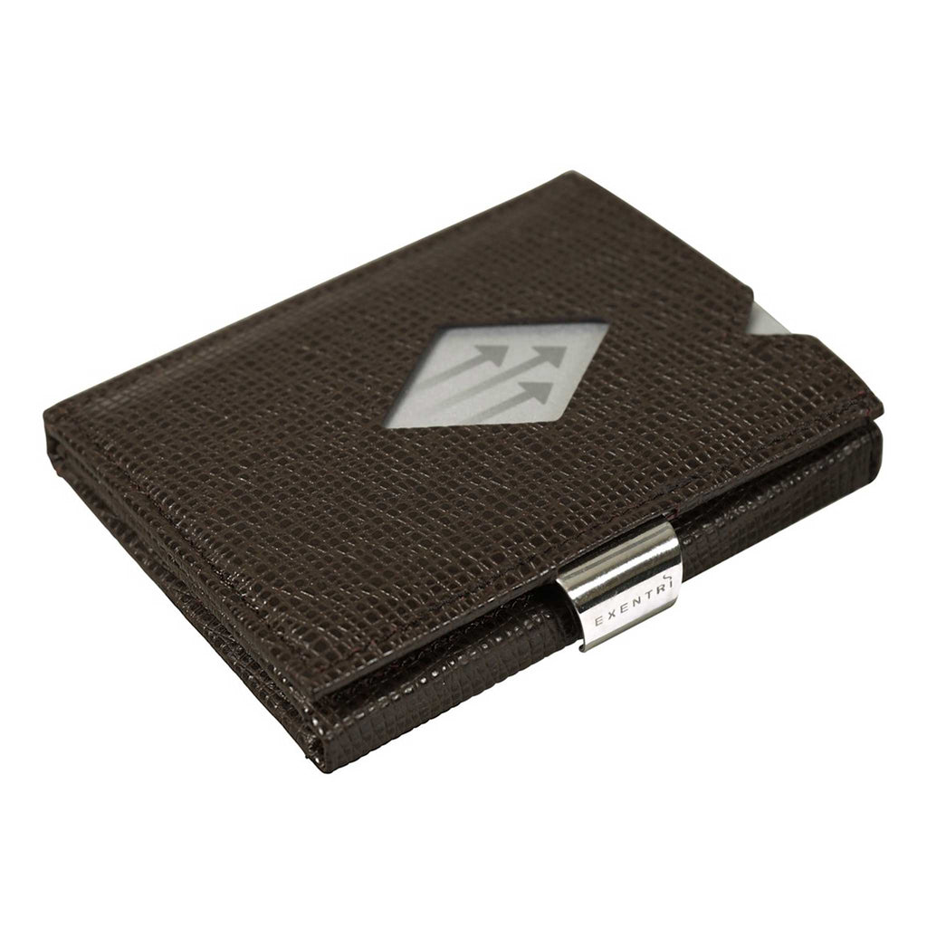 EXENTRI Wallet Brown Mosiac - mit RFID-Schutz - Exentri Wallets - Smart Wallet