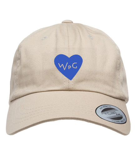 WPG Heart Dad Hat | Blue on Khaki
