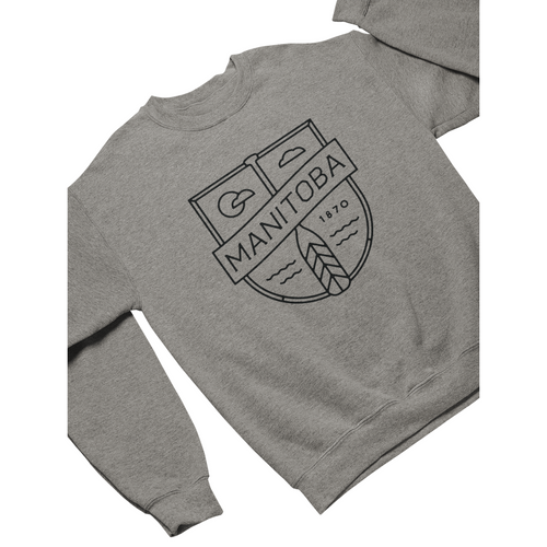MB Cottage Crewneck | Black on Athletic Grey