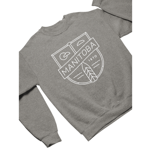 MB Cottage Crewneck | White on Athletic Grey