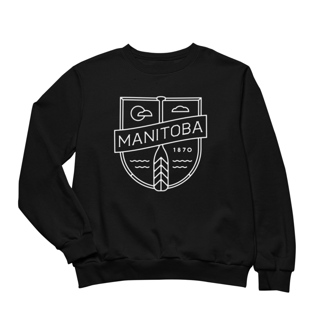 MB Cottage Crewneck | White on Black