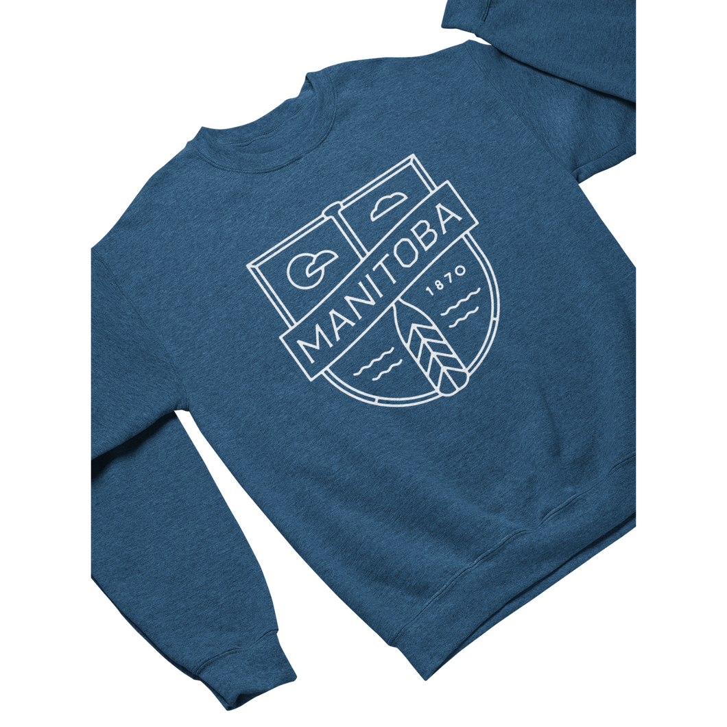MB Cottage Crewneck | White on Heather Royal