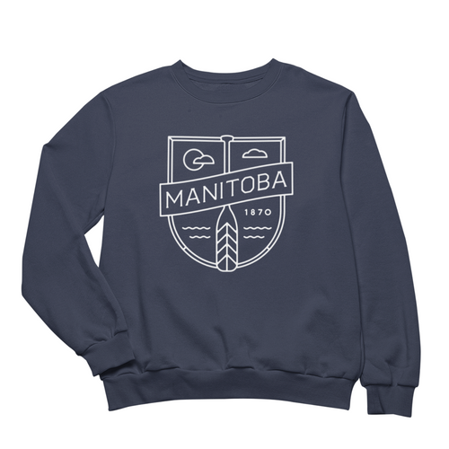 MB Cottage Crewneck | White on Navy