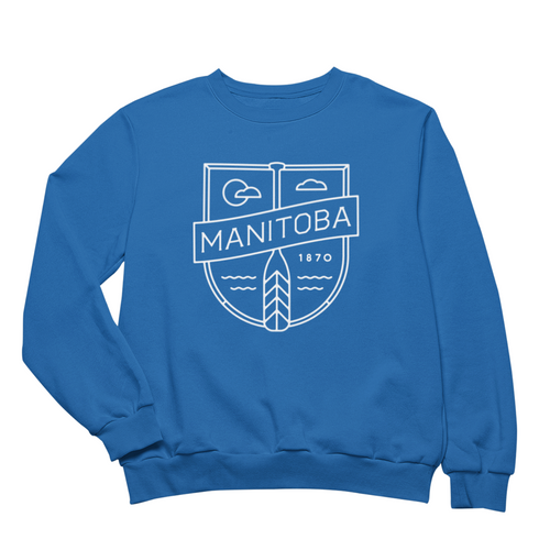 MB Cottage Crewneck | White on Royal