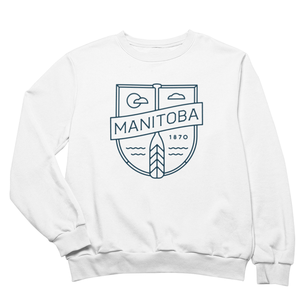 MB Cottage Crewneck | Navy on White