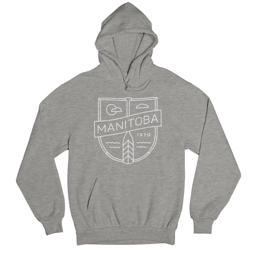 MB Cottage Hoodie | White on Athletic Grey