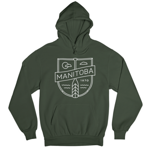 MB Cottage Hoodie | White on Forest Green