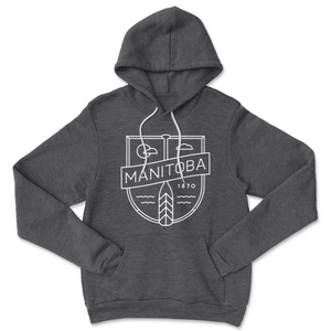 MB Cottage Hoodie | White on Heather Charcoal