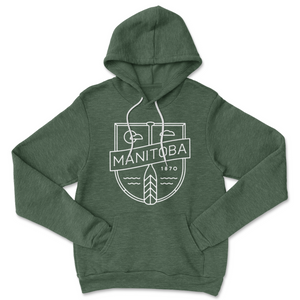 MB Cottage Hoodie | White on Heather Forest