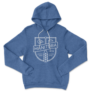 MB Cottage Hoodie | White on Heather Royal