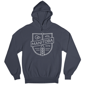 MB Cottage Hoodie | White on Navy