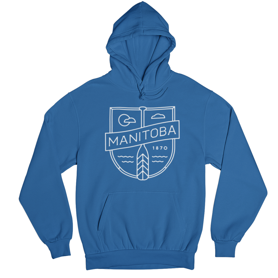 MB Cottage Hoodie | White on Royal
