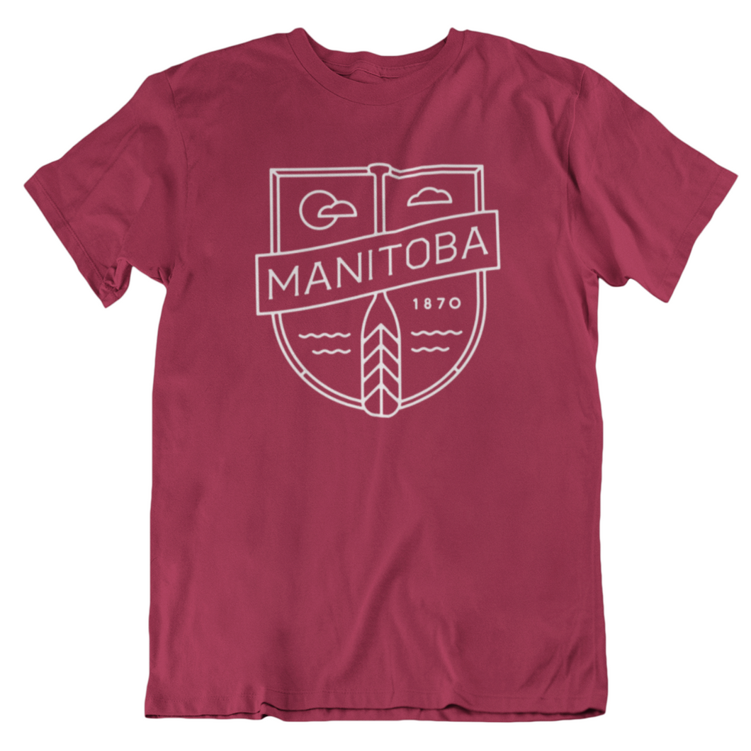 MB Cottage Tee | White on Cardinal Red