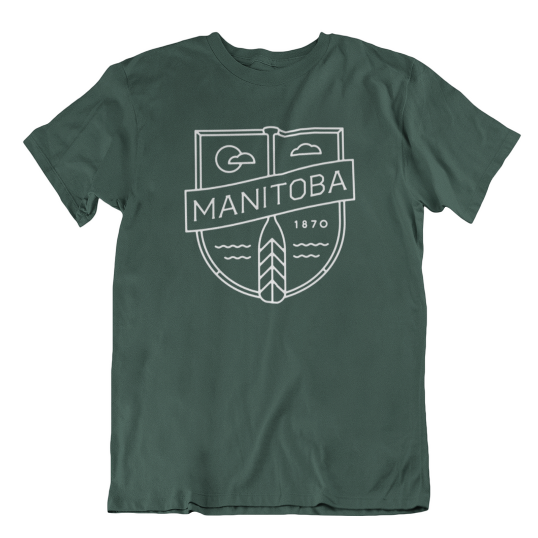 MB Cottage Tee | White on Forest Green