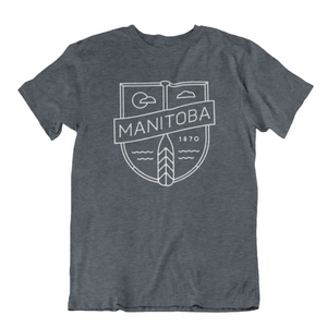 MB Cottage Tee | White on Dark Heather