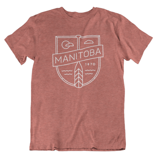MB Cottage Tee | White on Heather Clay