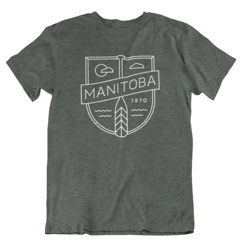 MB Cottage Tee | White on Heather Forest