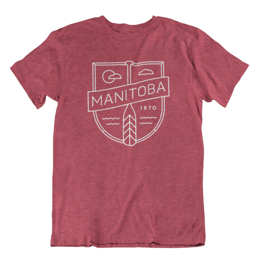 MB Cottage Tee | White on Heather Red