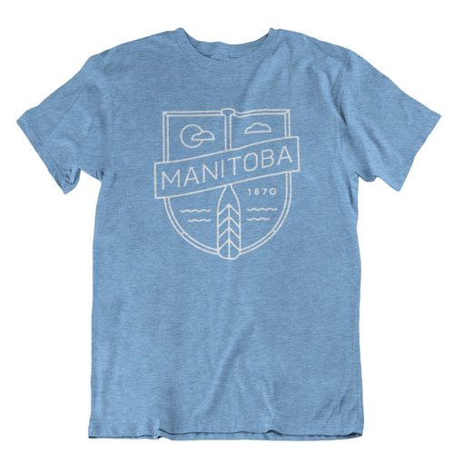 MB Cottage Tee | White on Heather Sky