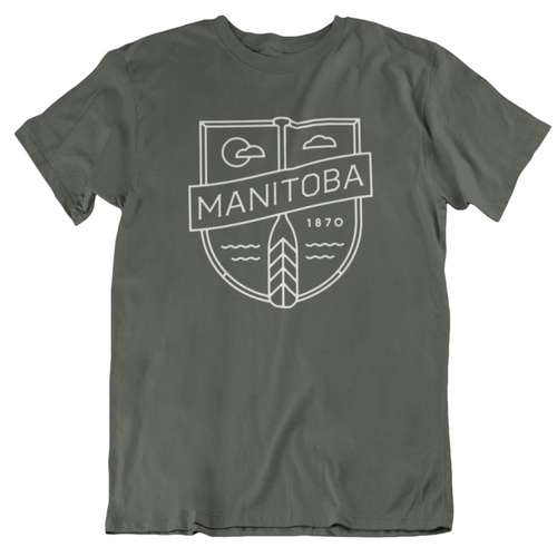 MB Cottage Tee | White on Military Green