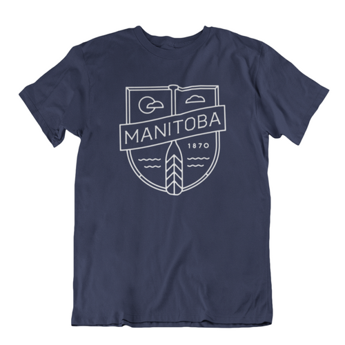 MB Cottage Tee | White on Navy