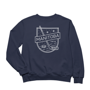 MB Hockey Crewneck | White on Navy
