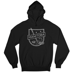 MB Hockey Hoodie | White on Black
