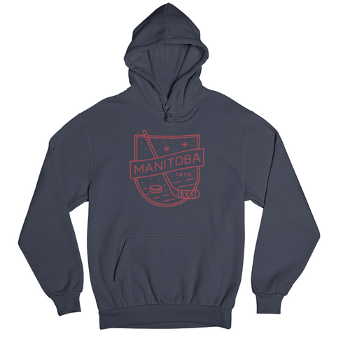 MB Hockey Hoodie | Red on Navy