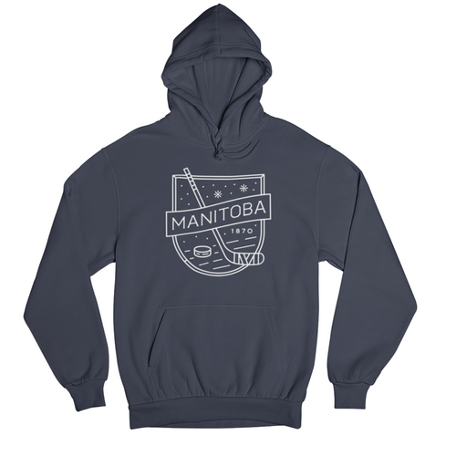 MB Hockey Hoodie | White on Navy