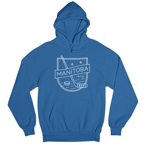MB Hockey Hoodie | White on Royal