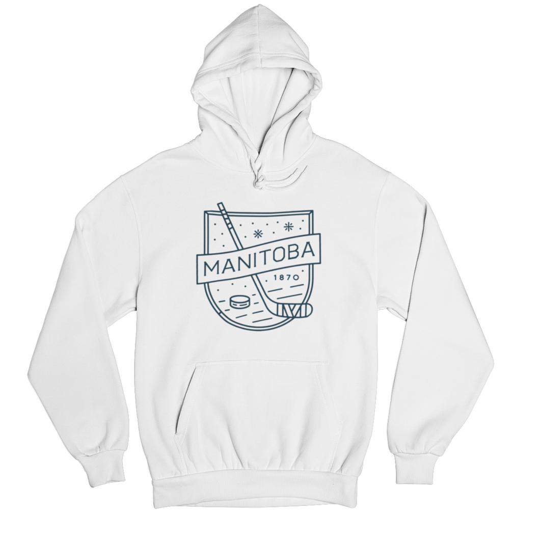 MB Hockey Hoodie | Navy on White