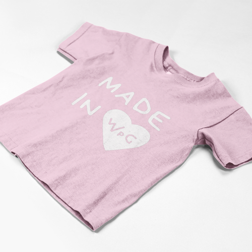 Made in WPG Toddler Tee | Pink