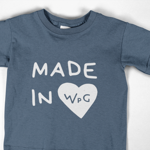 Made in WPG Youth Tee | Indigo