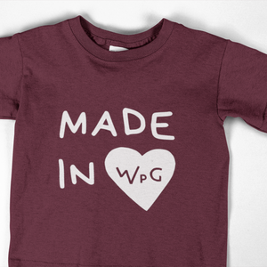 Made in WPG Youth Tee | Maroon