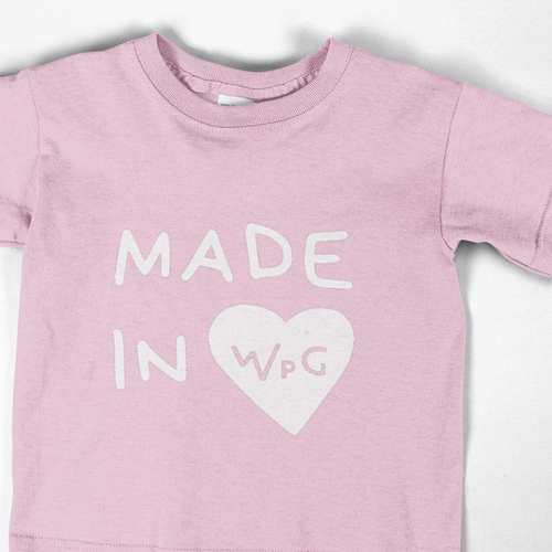 Made in WPG Youth Tee | Pink