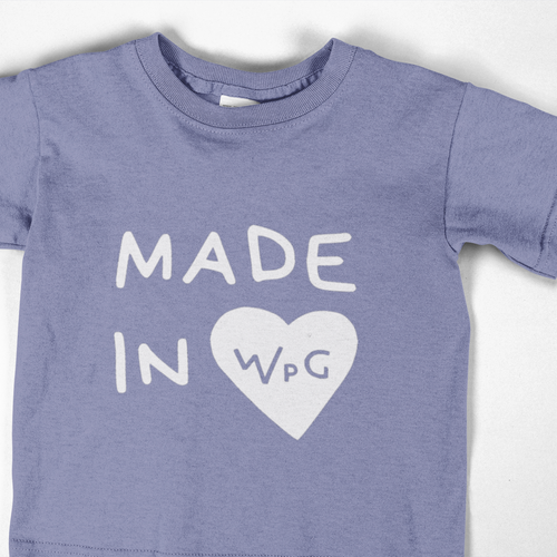 Made in WPG Youth Tee | Violet