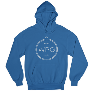WPG Compass Hoodie | White on Royal