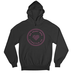 WHW Lifestyle Hoodie | Pink on Black