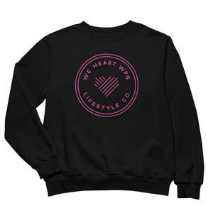 WHW Lifestyle Crewneck | Pink on Black