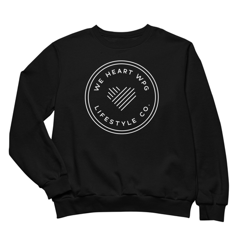 WHW Lifestyle Crewneck | White on Black