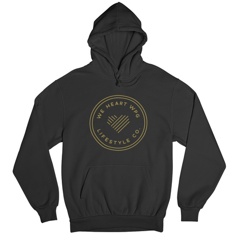 WHW Lifestyle Hoodie | Gold on Black