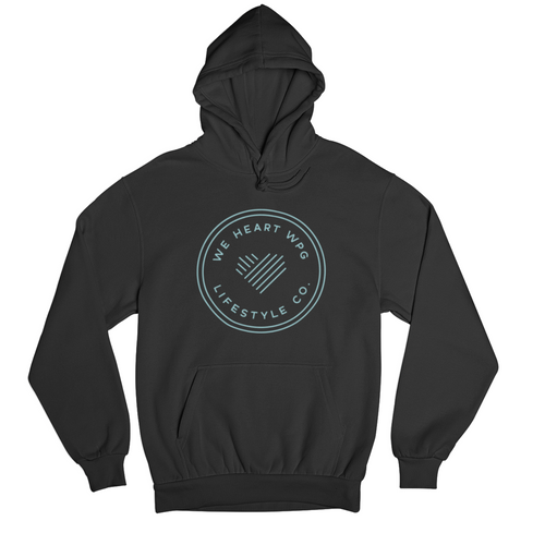 WHW Lifestyle Hoodie | Teal on Black